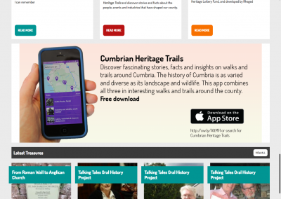 'The Treasures of Cumbria' multi-platform project